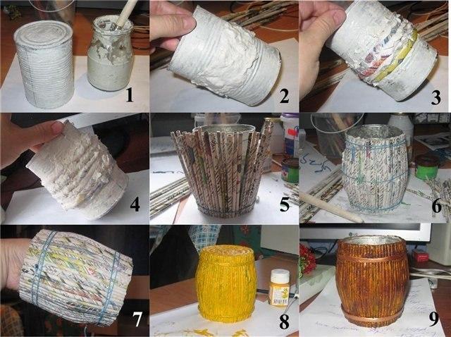 Как сделать бочонок из картона своими руками